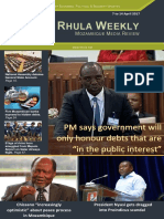 Rhula Mozambique Weekly Media Review - 07 to 14 April 2017