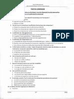 test professionnel bac+5 gestion