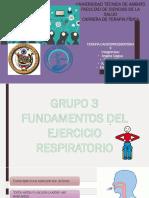 EXPOSICION EJERCICIOS RESPIRATORIOS