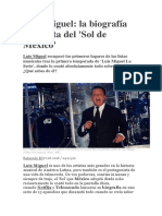 Biografía Luis Miguel