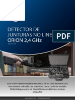 Manual Detector de Junturas No Lineales - Orion