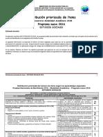 Distribucion Priorizada de Estudios Sociales 2018