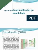 Desinfectantes utilizados en odontología