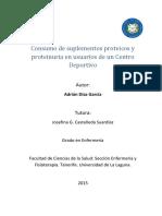 Consumo de Suplementos Proteicos y Proteinuria en Usuarios de Un Centro Deportivo.