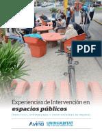 Experiencias de Intervencion en Espacios publicos