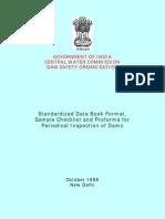 Data Book, Checklist & Inspectin of Dams