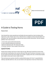 a guide to testing horns