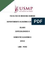 Silabo DE ESP II