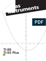 Manual - TI-89 TI-92 Plus, Texas Instruments Calculators.pdf