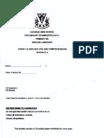 P6 English SA2 2017 Catholic High 1 Exam Papers