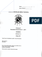 P6 Science SA1 2017 St Nicholas Exam Papers