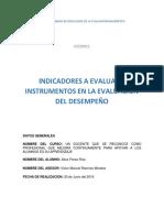 1.5.3 Indicadores a Evaluar e Instrumentos en La Evaluación Del Desempeño