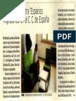Inauguran muestra ´Espacios migratorios´ en el C.C. de España. (3 de octubre de 2018). La República, p. 29.