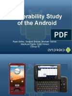 Android Vulnerability Study