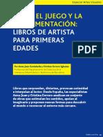 Entre El Juego y La Experimentación_libros de Artista Para Las Primeras Edades.