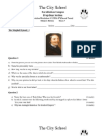 History Worksheets Class 7