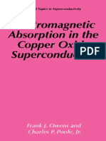 Frank J. Owens, Charles P. Poole Jr. Electromagnetic Absorption in the Copper Oxide Superconductors 1999