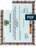 Sertifikat Akreditasi Ilmu Keperawatan 2010-2015