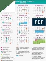 Calendario Escolar 195 y 200 Dias
