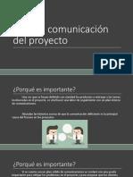 Plan de Comunicacion de Proyecto
