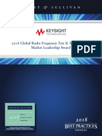 Frost Sullivan 2018 Keysight Global Radio