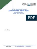 Agosto 2018 - Curso Preparacion API 580 2018
