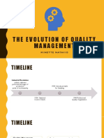 4 - The Evolution of Quality Management to the Foundation of Modern Quality Management the Gurus