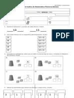 Evaluacion Sumativa Matemática 1ro - Junio