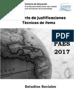 Justificaciones Est Soc 2017
