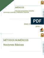 C4_MetNum_I_ 2018 - I - Solucion de Las SEL Métodos Directos