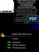 Digital Fiiter Design - Projects