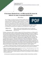 Hugo Vega Fricciones Financieras Diferencial Td Interes Econ Dolarizada 18 Pags