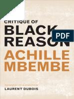 Critique of Black Reason-Duke University Press (2017)