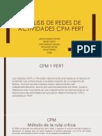 Análisis de Redes de Actividades Cpm Pert
