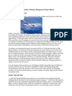 Emirates Airline Strategic Management Project Report