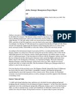Emirates Airline Strategic Management Project Report