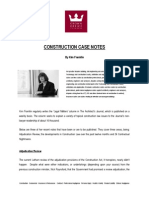 Article Construction Case Notes