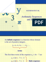 Arithmetic Seq and Series Power Point