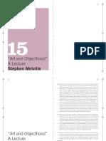 15 MACBA QP - Stephen Melville - Art and Objecthood