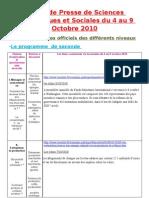 Revue de Presse Du 04 Au 09 Octobre 2010