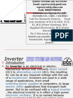 Inverter based Projects