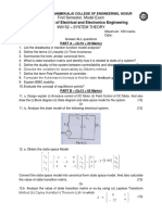 System Theory - Model Exam