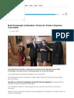 Brett Kavanaugh Confirmation_ Victory for Trump in Supreme Court Battle - BBC News