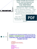 power systems project areas