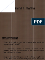 The Empowerment and Process