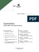 Newington 2013 Economics Trials & Solutions