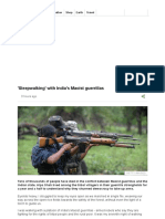 'Sleepwalking' With India's Maoist Guerrillas - BBC News
