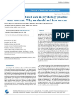 Measurement Based Care in Psychology Practice With Veterans Why We Should and How We Can