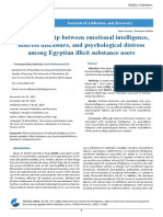 The Relationship Between Emotional Intelligence Distress Disclosure and Psychological Distress Among Egyptian Illicit Substance Users