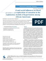 Neighborhood and Social Influences on Blood Pressure an Exploration of Causation in the Explanatory Models of Hypertension Among African Americans